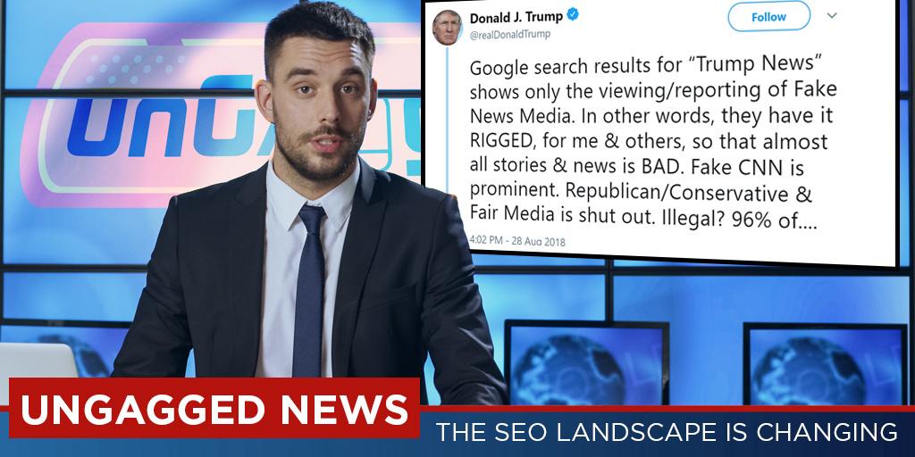 Trump makes SEO headline news